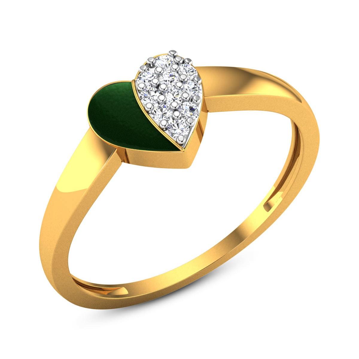 Akansha Diamond Heart Ring