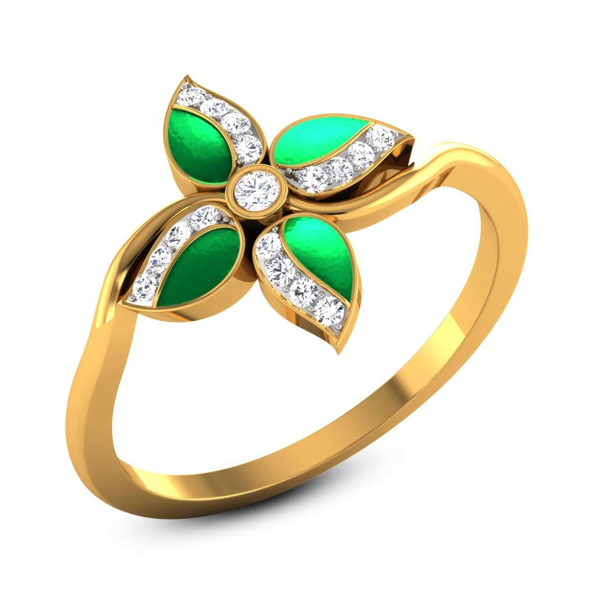 Bandhula Diamond Floral Ring