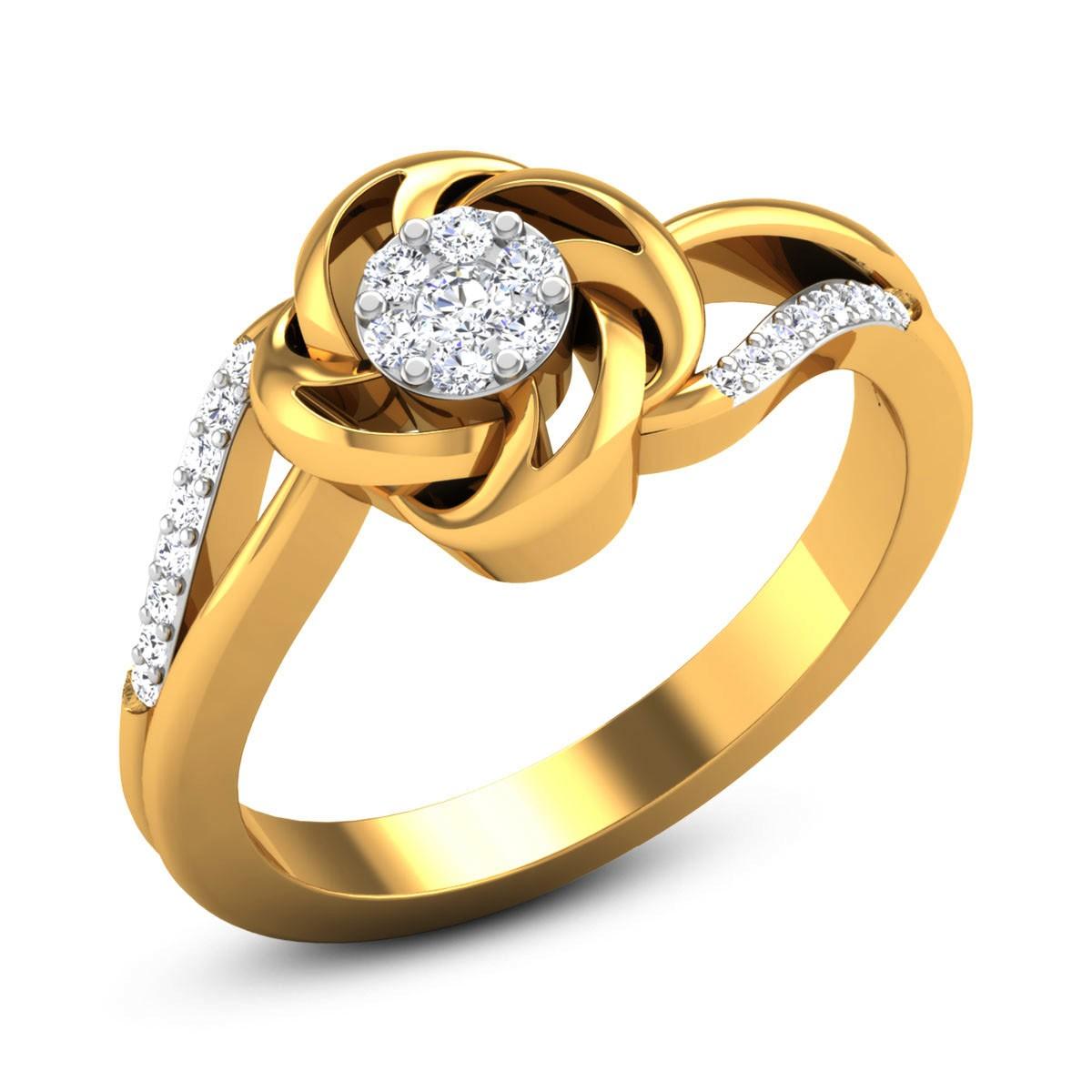 Yasmin Diamond Floral Ring