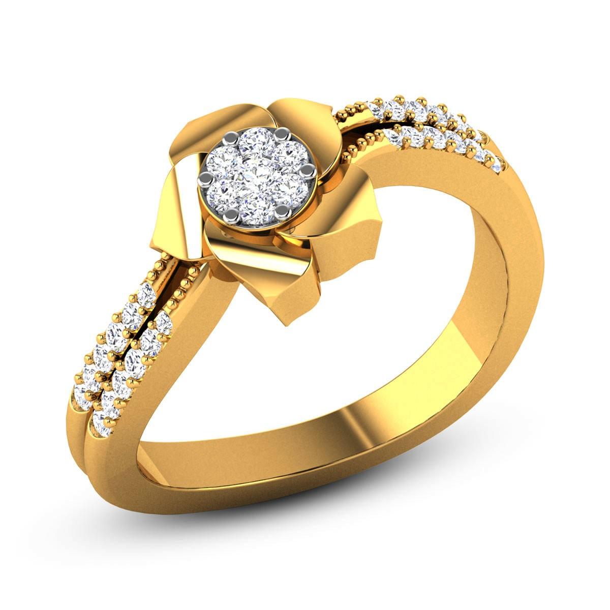 Winona Diamond Floral Ring