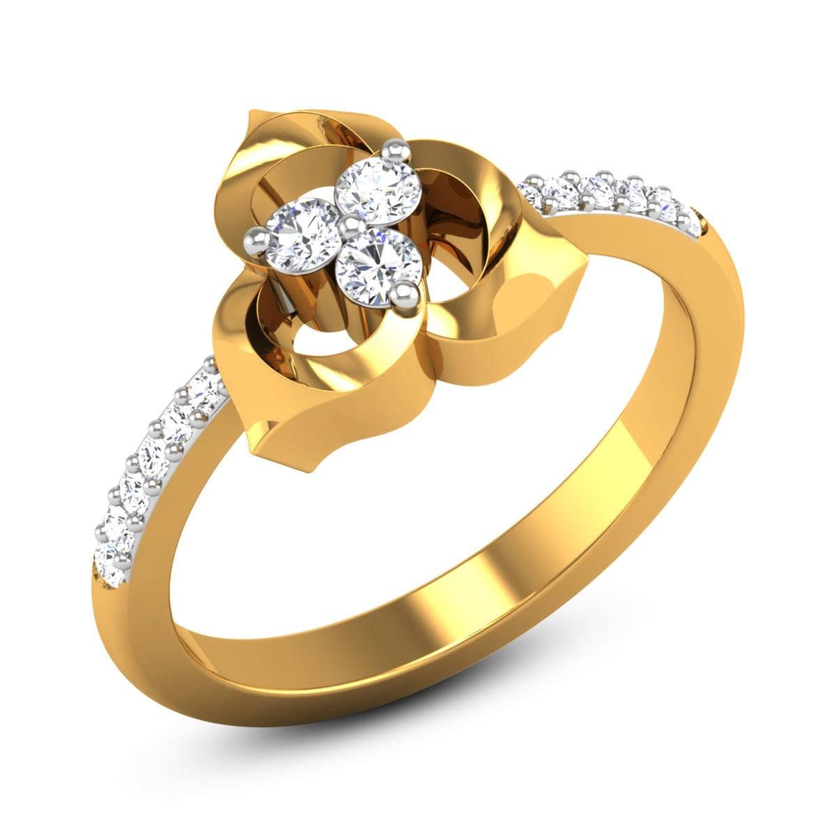Shamus Diamond Floral Ring