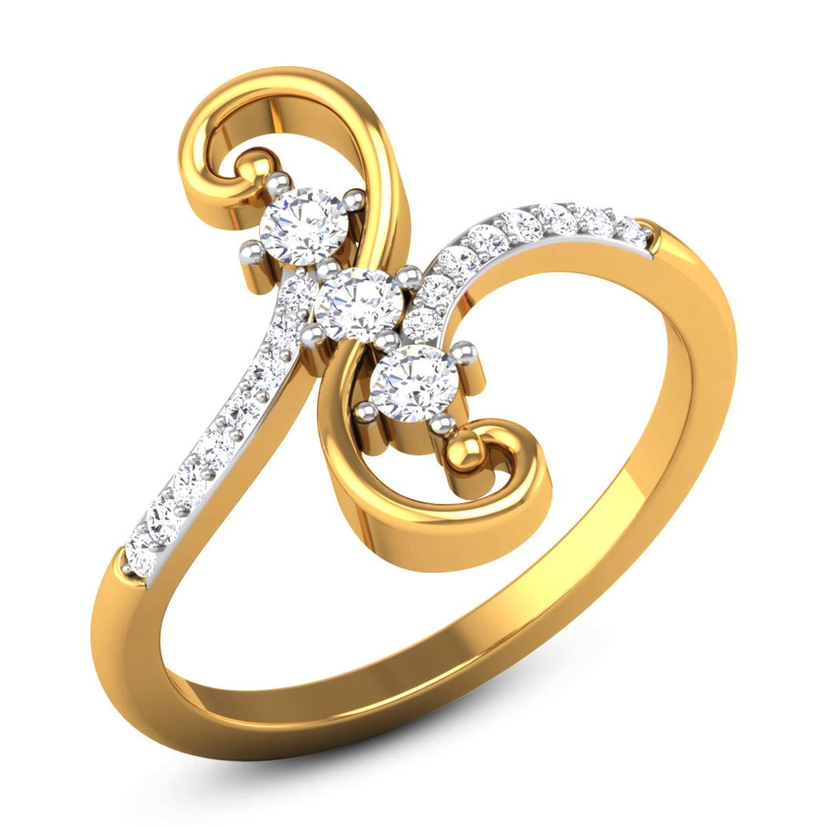 Rosabel 3 Stone Diamond Ring