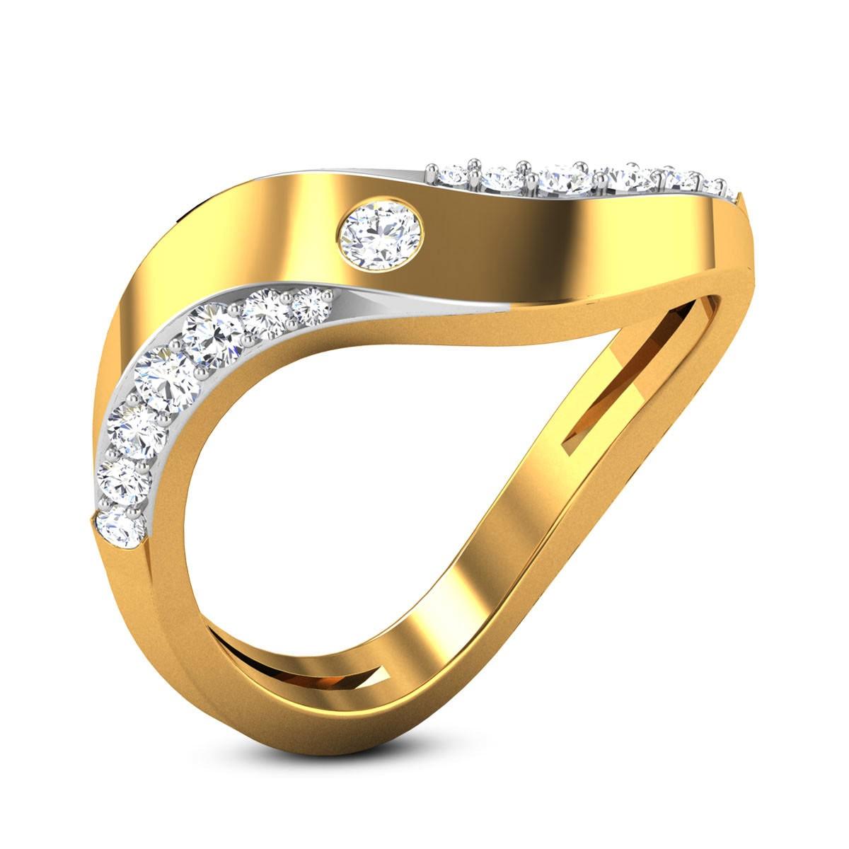 Pierre Wavy Diamond Ring