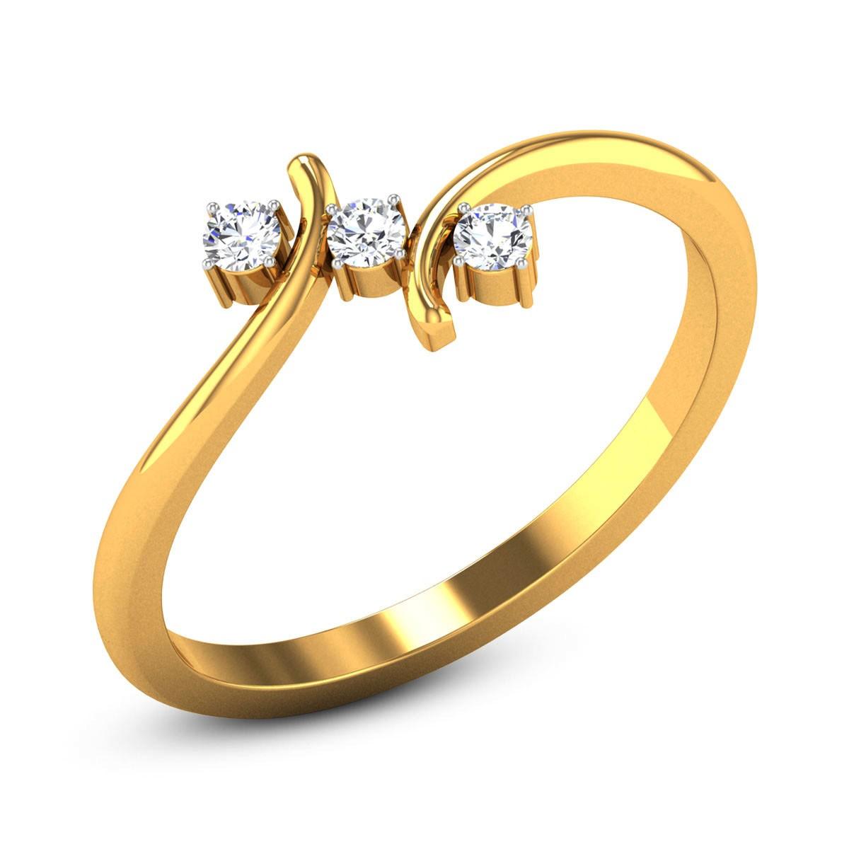 Quade Three Stone Diamond Ring