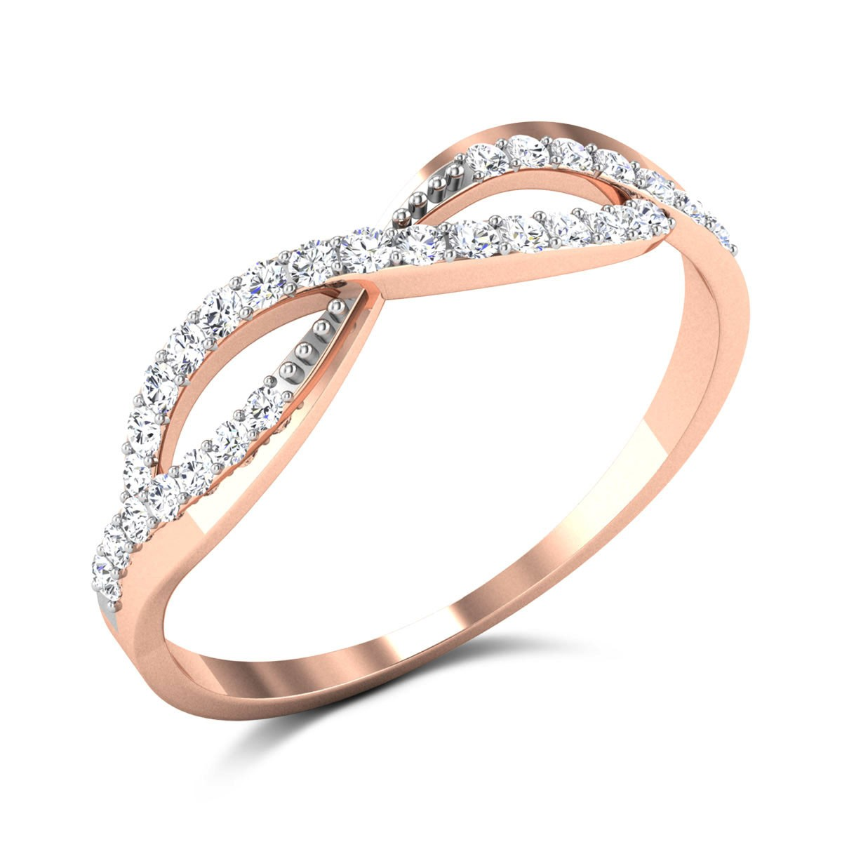 Tait Diamond Wavy Ring