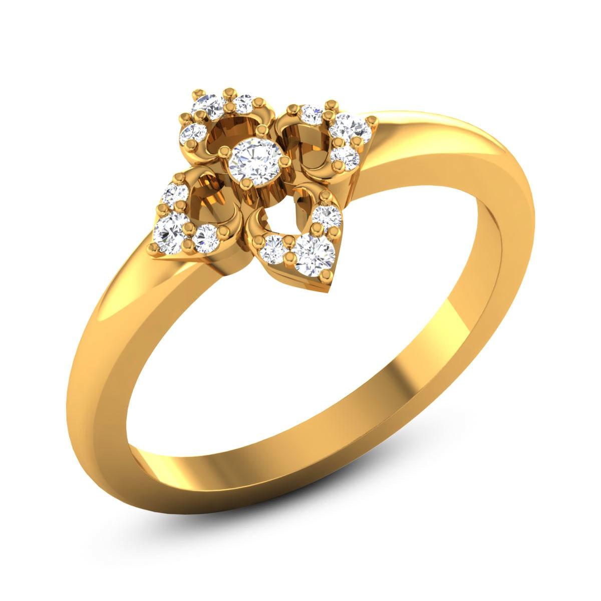 Aaron Diamond Floral Ring