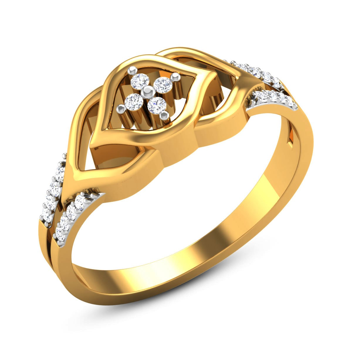 Euphoria Diamond Floral Ring