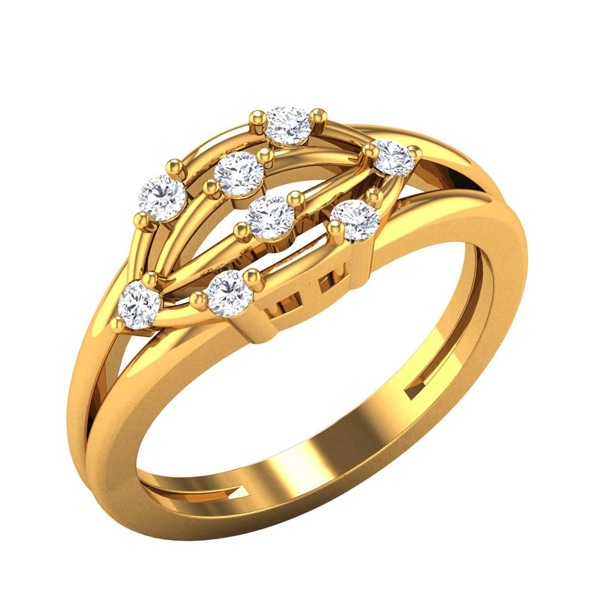 Jolie Diamond Split Band Ring
