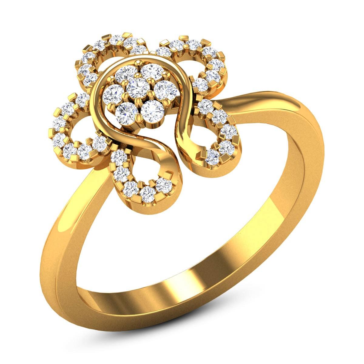 Halcyon Diamond Floral Ring