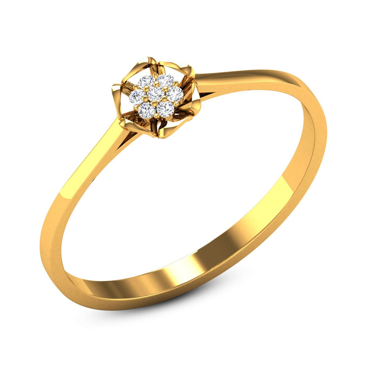 Abedin Diamond Floral Ring