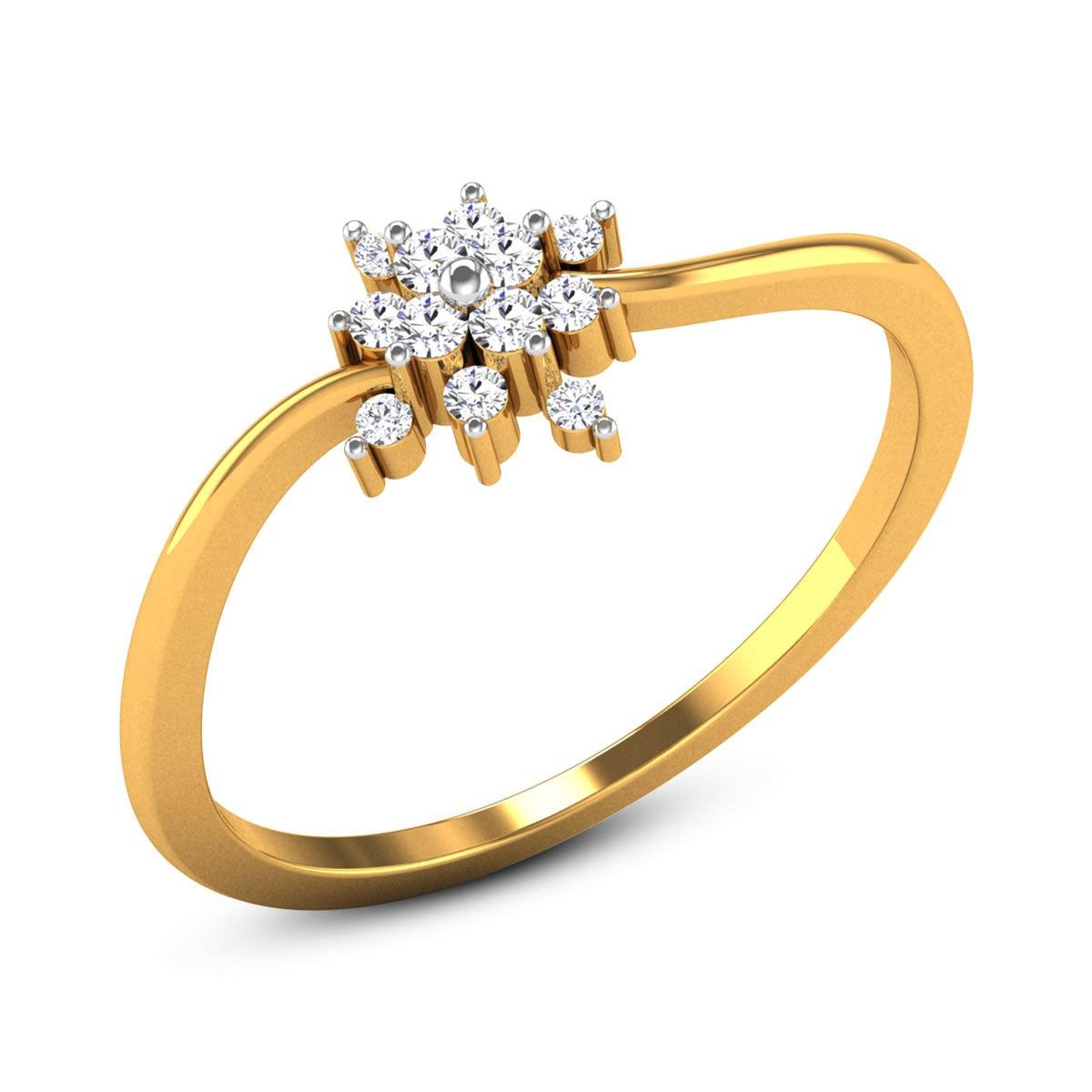 Deanna Diamond Floral Ring