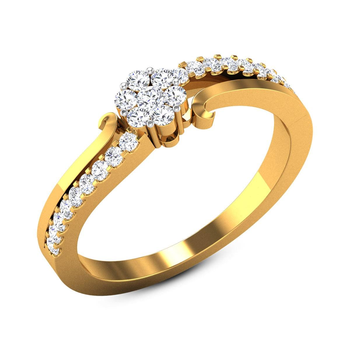 Kes Diamond Floral Ring
