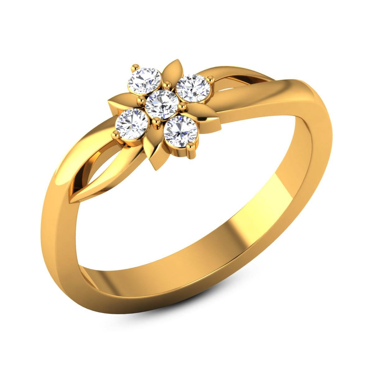 Viho Diamond Floral Ring