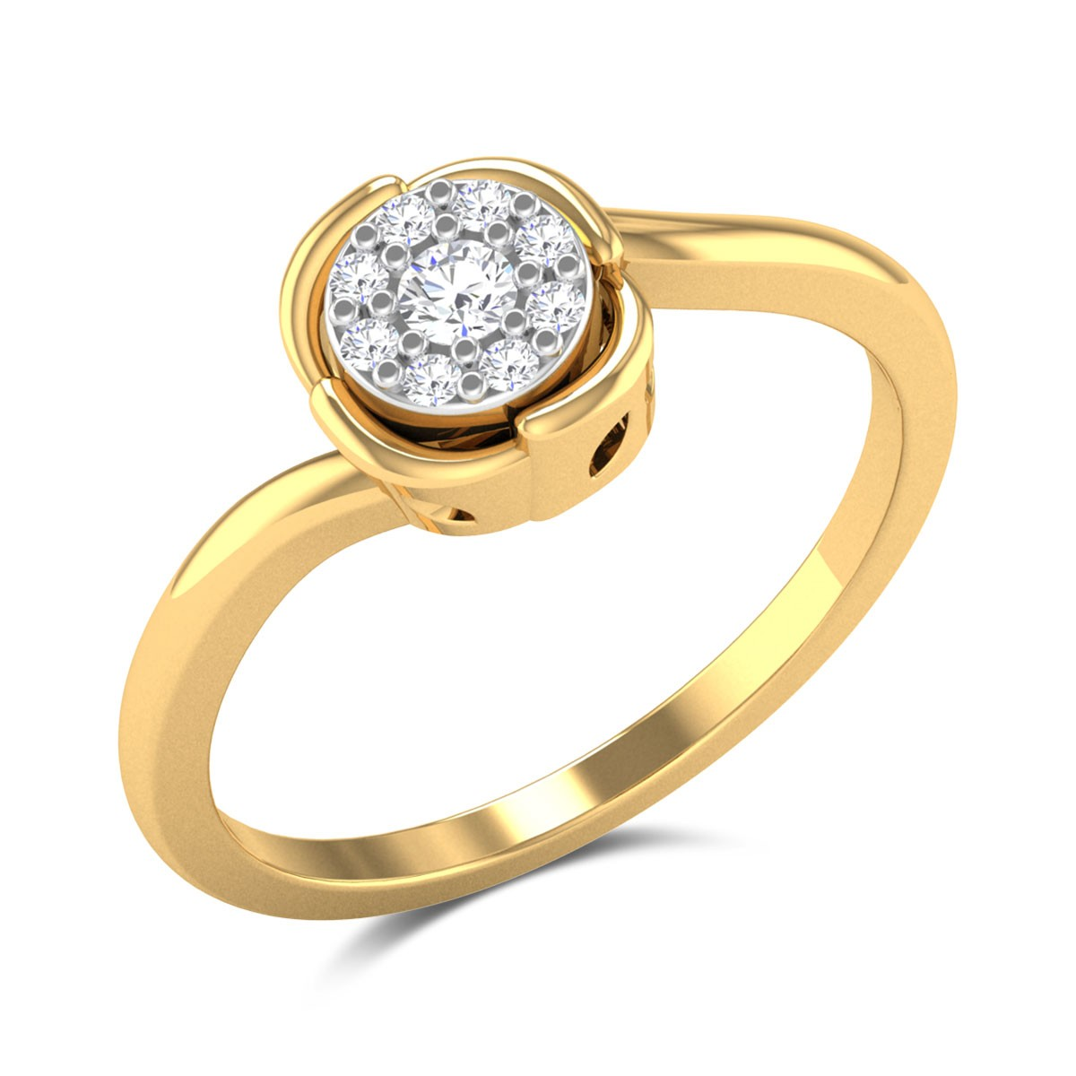 Pamposh Floral Diamond Ring