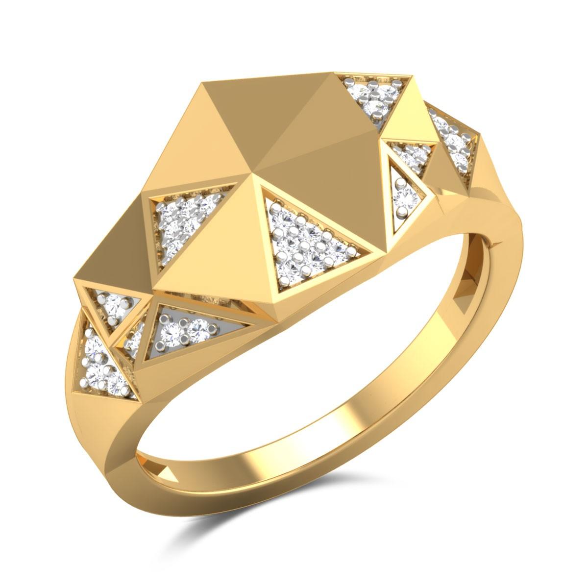 Pamina Geometric Diamond Ring