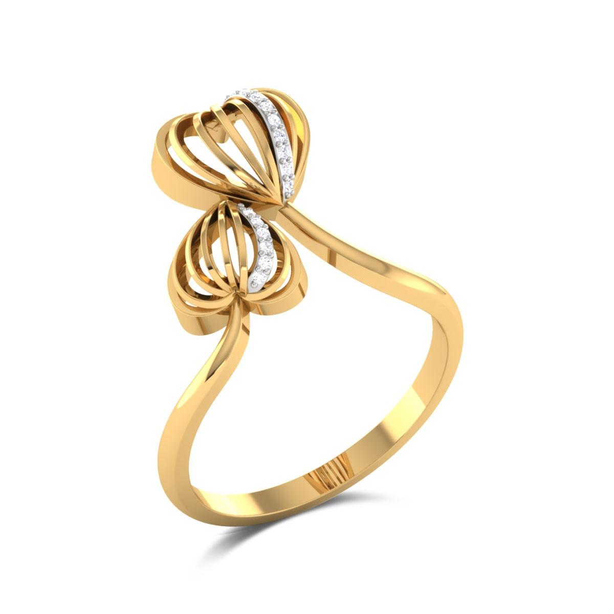 Malva Diamond Heart Ring