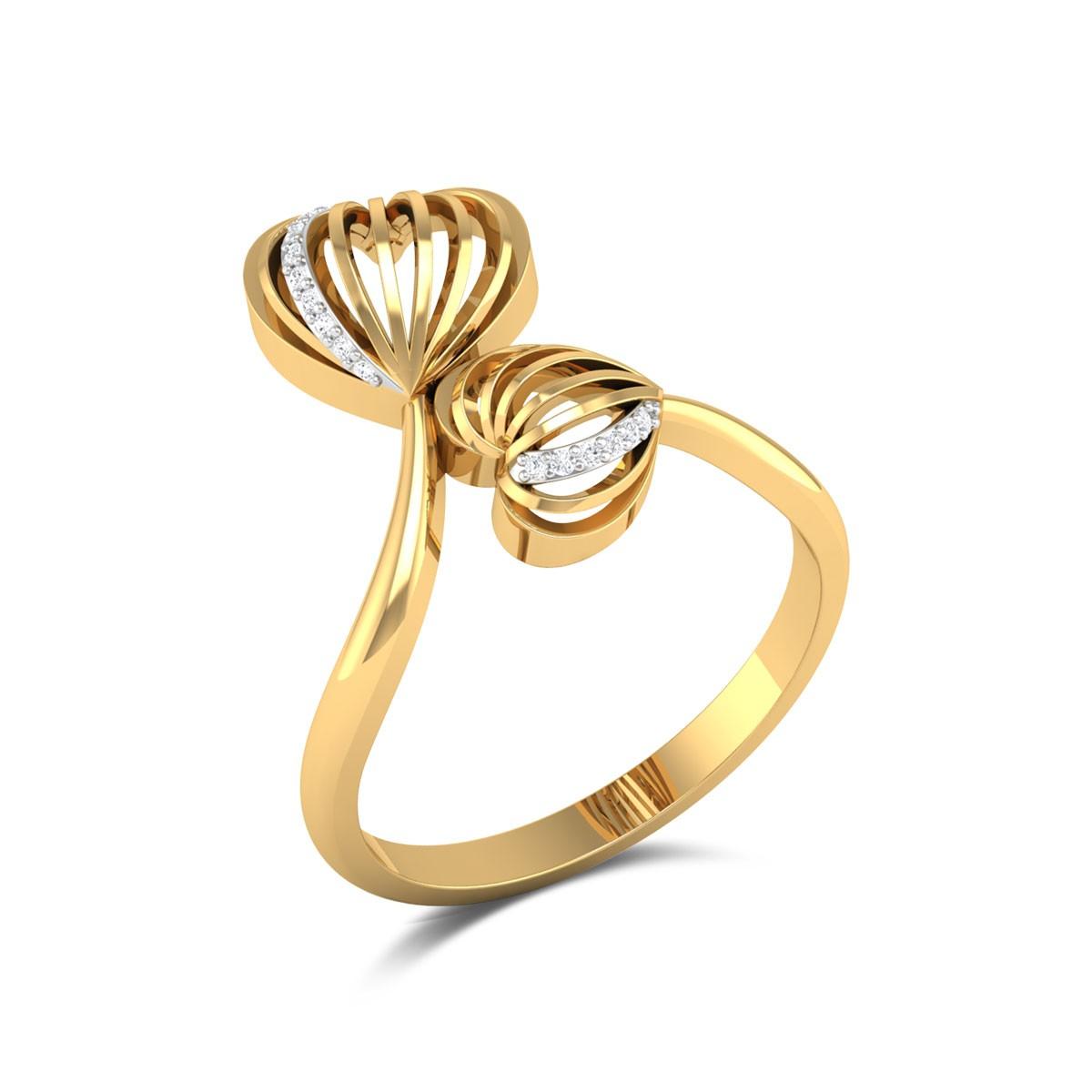 Nishadha Diamond Dual Heart Ring
