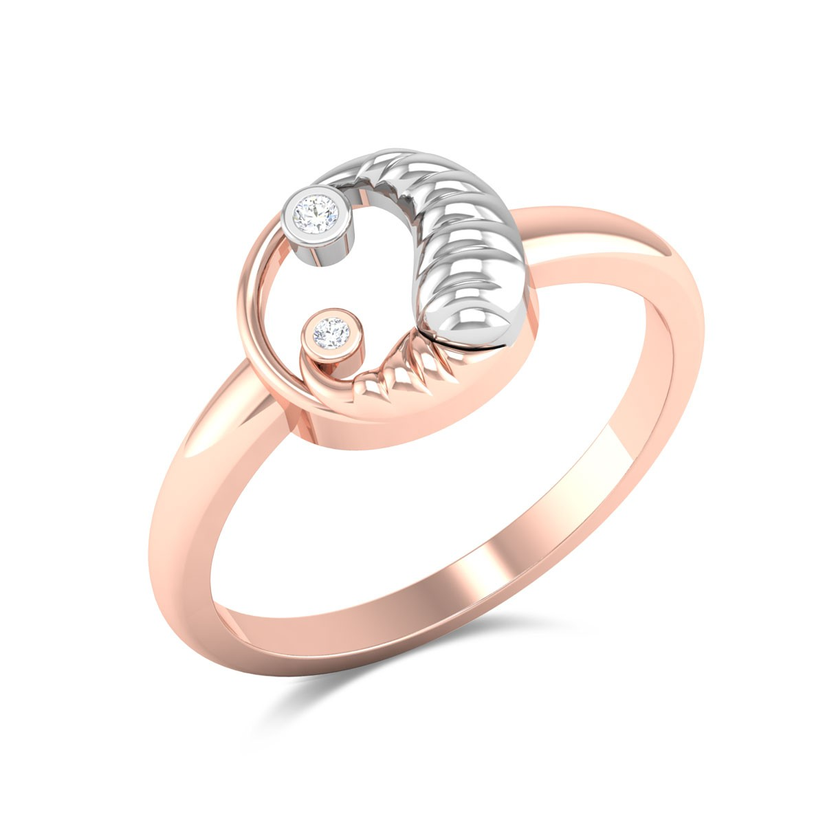 Gharam Mom and Child Diamond Ring