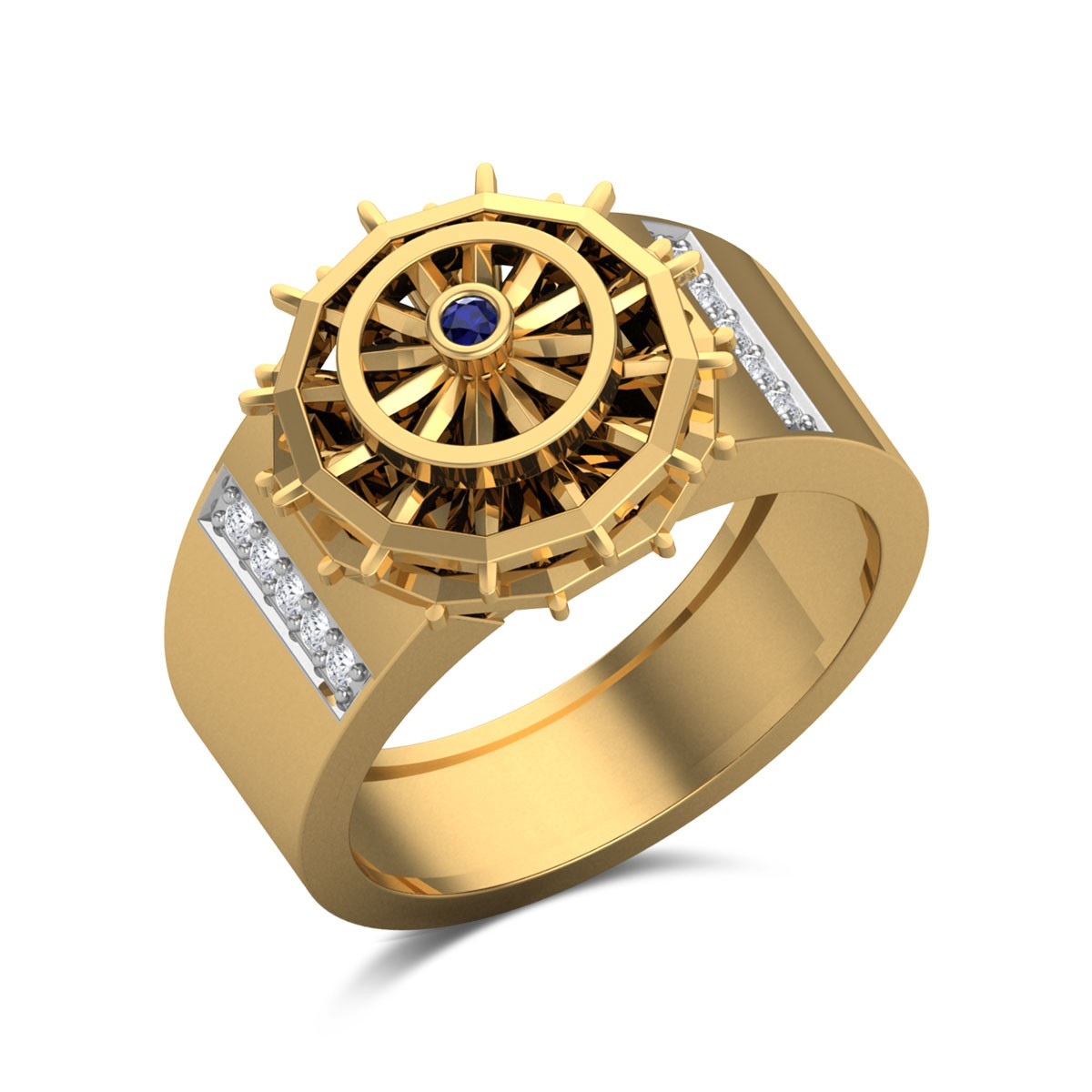 Ethnic Wheel Diamond Ring