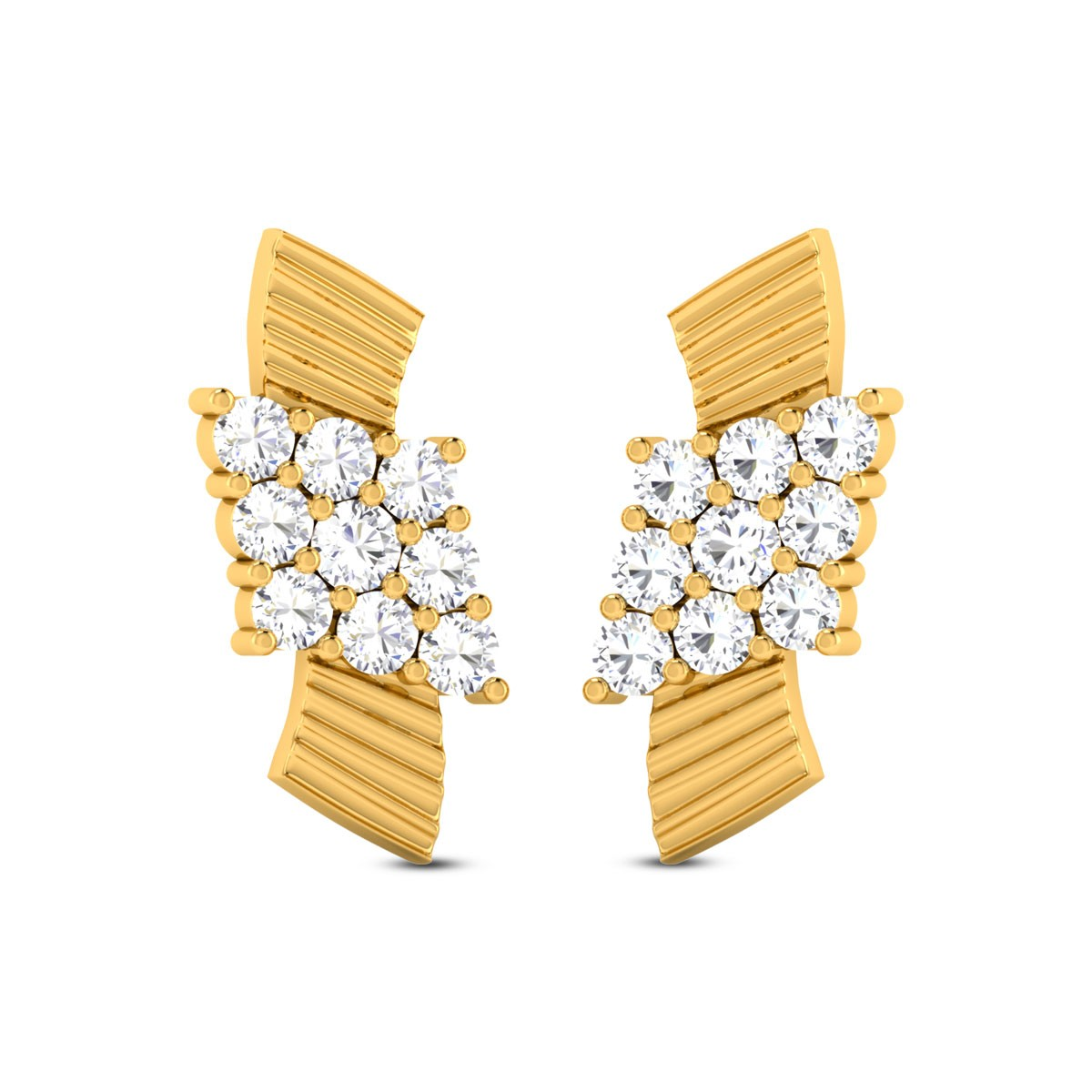 Buy Opal Contemporary 3.11 Gms Gold Stud Earrings Online