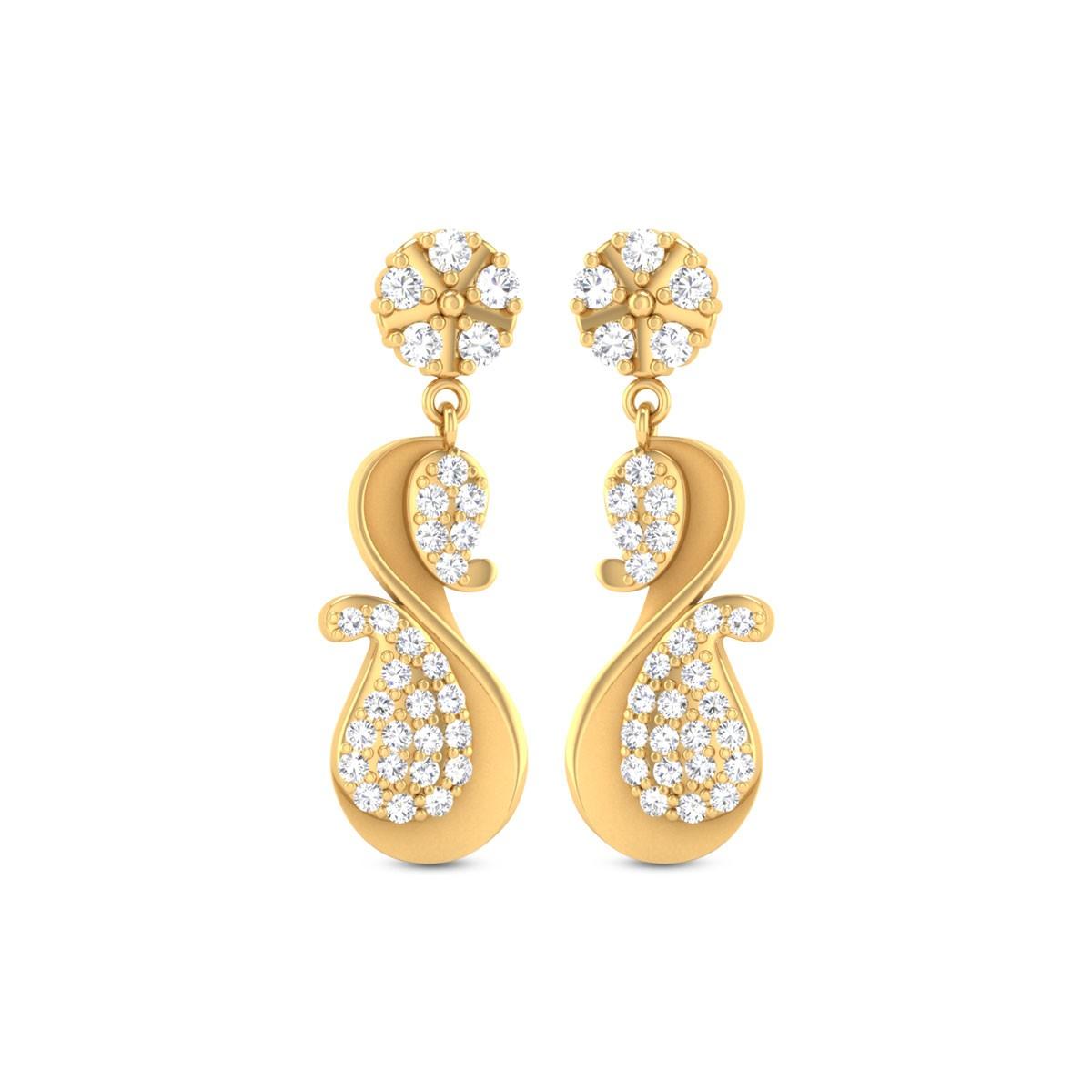 Cate Gold & CZ Earrings