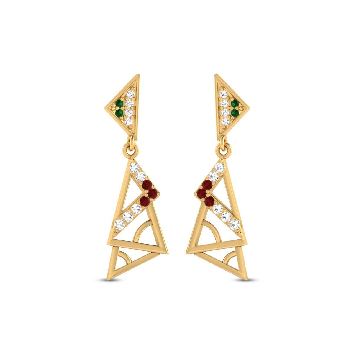 Bryony Gold & CZ Earrings