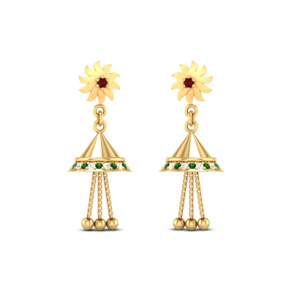 May Gold & CZ Earrings