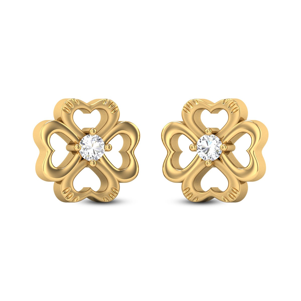 Araina Gold & CZ Earrings