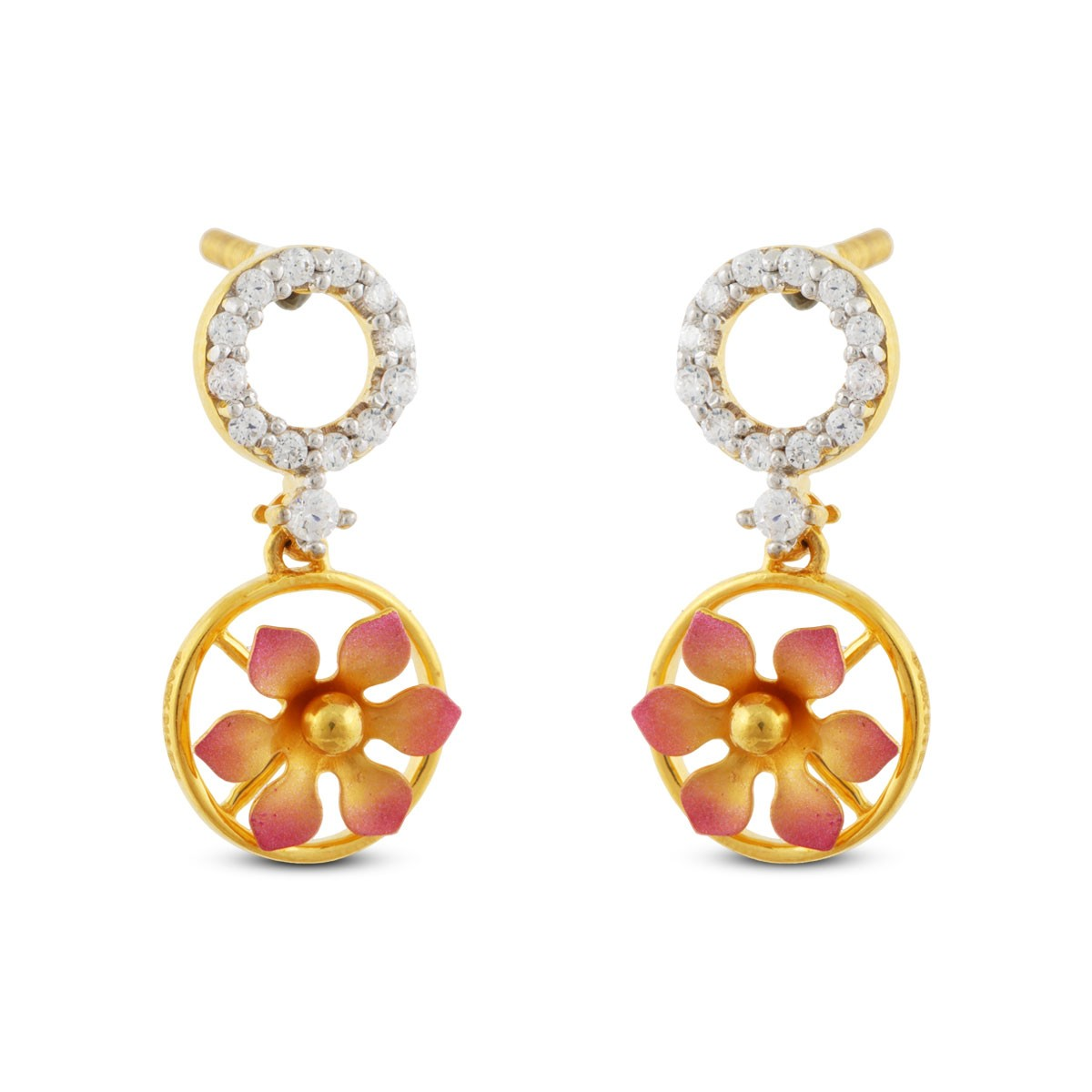 Lavinia Gold & CZ Earrings
