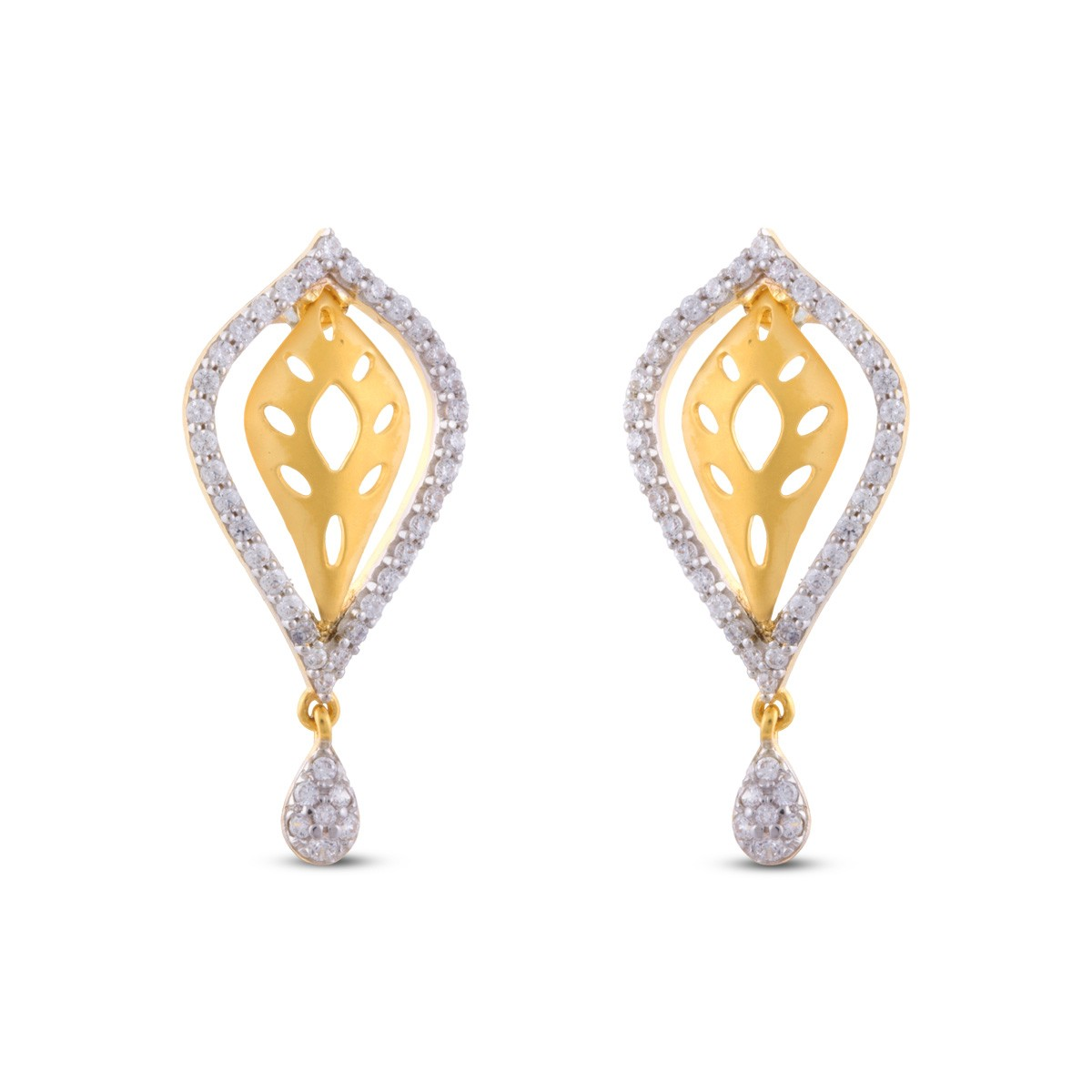 Imogen Gold & CZ Earrings