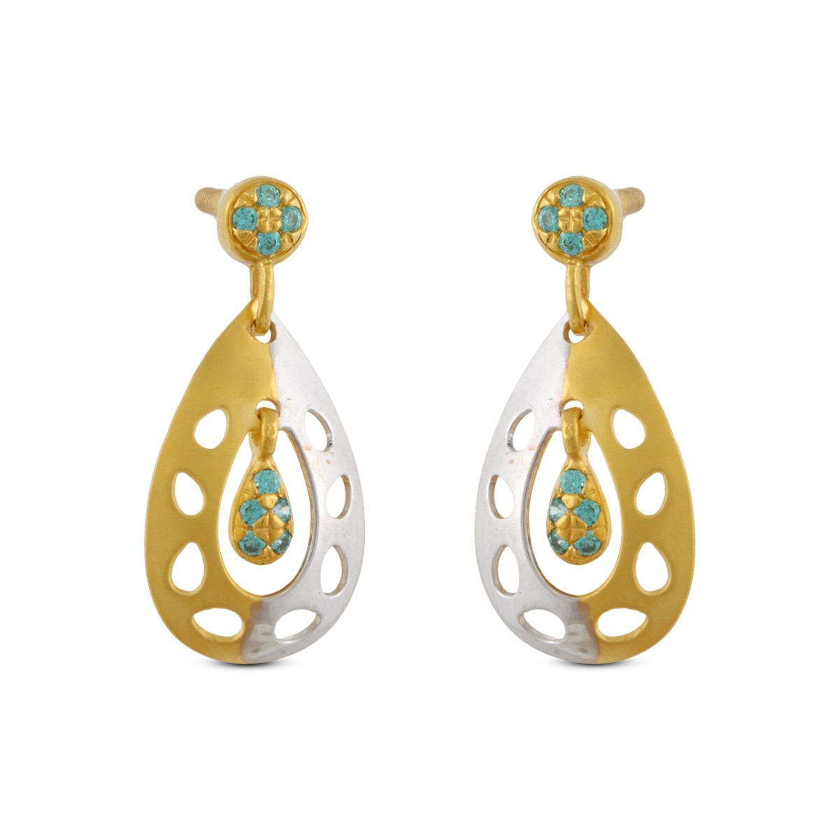 Analeigh Gold & CZ Earrings