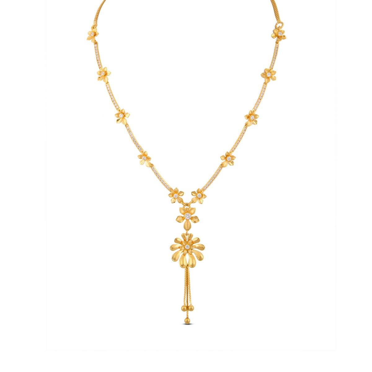 Diya Gold & CZ Necklace
