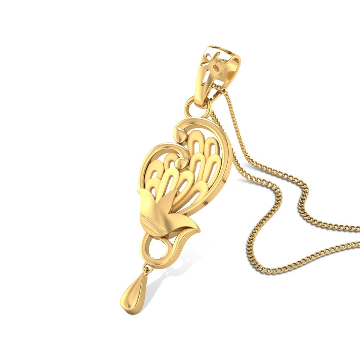 Buy Augusta Gold Pendant in 2.81 Grams Gold Online