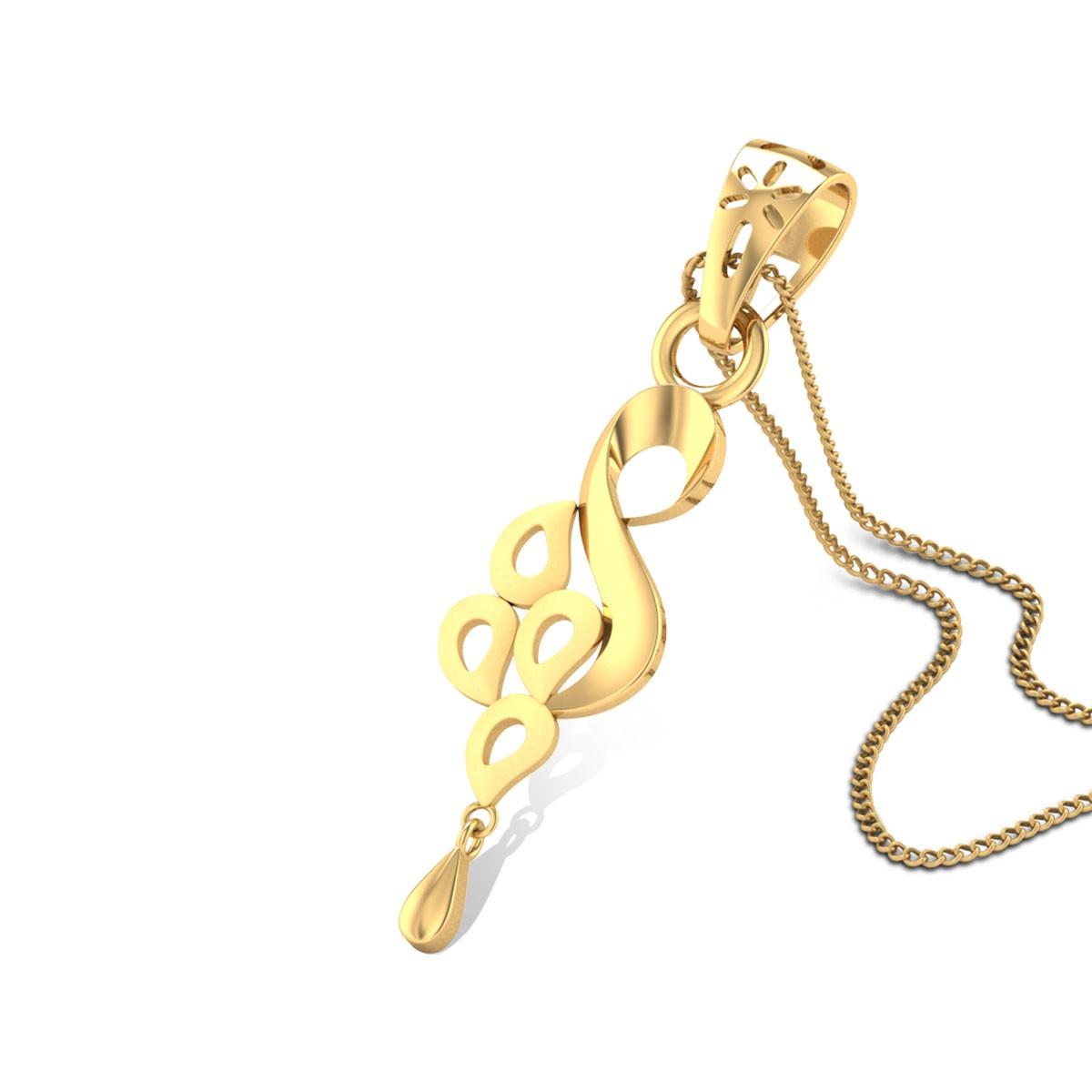 Mayura Gold Pendant