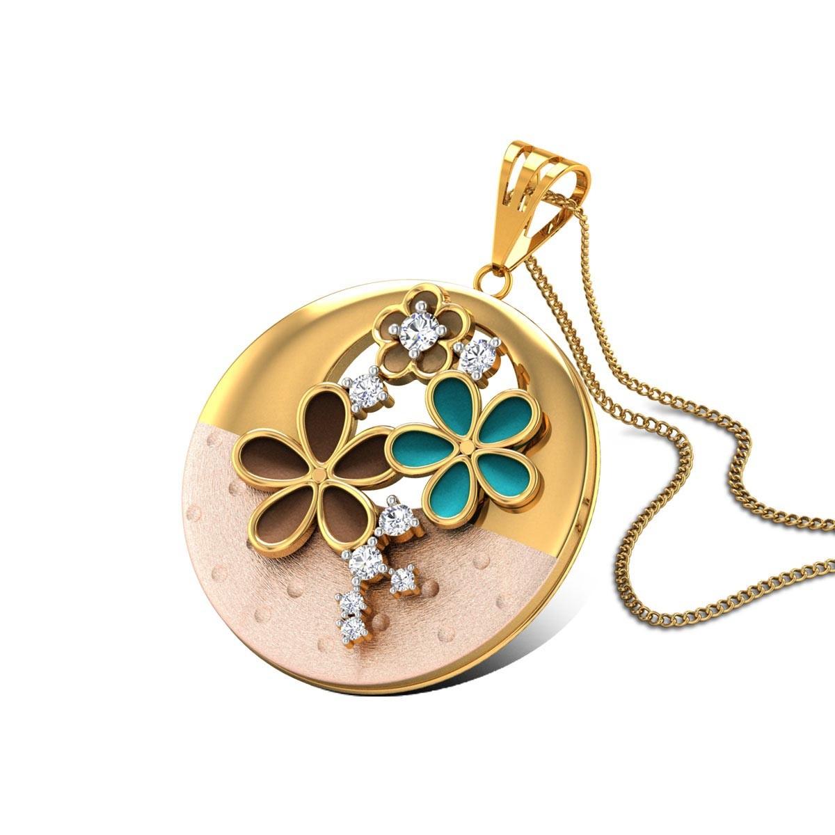 Leonore Gold & CZ Pendant