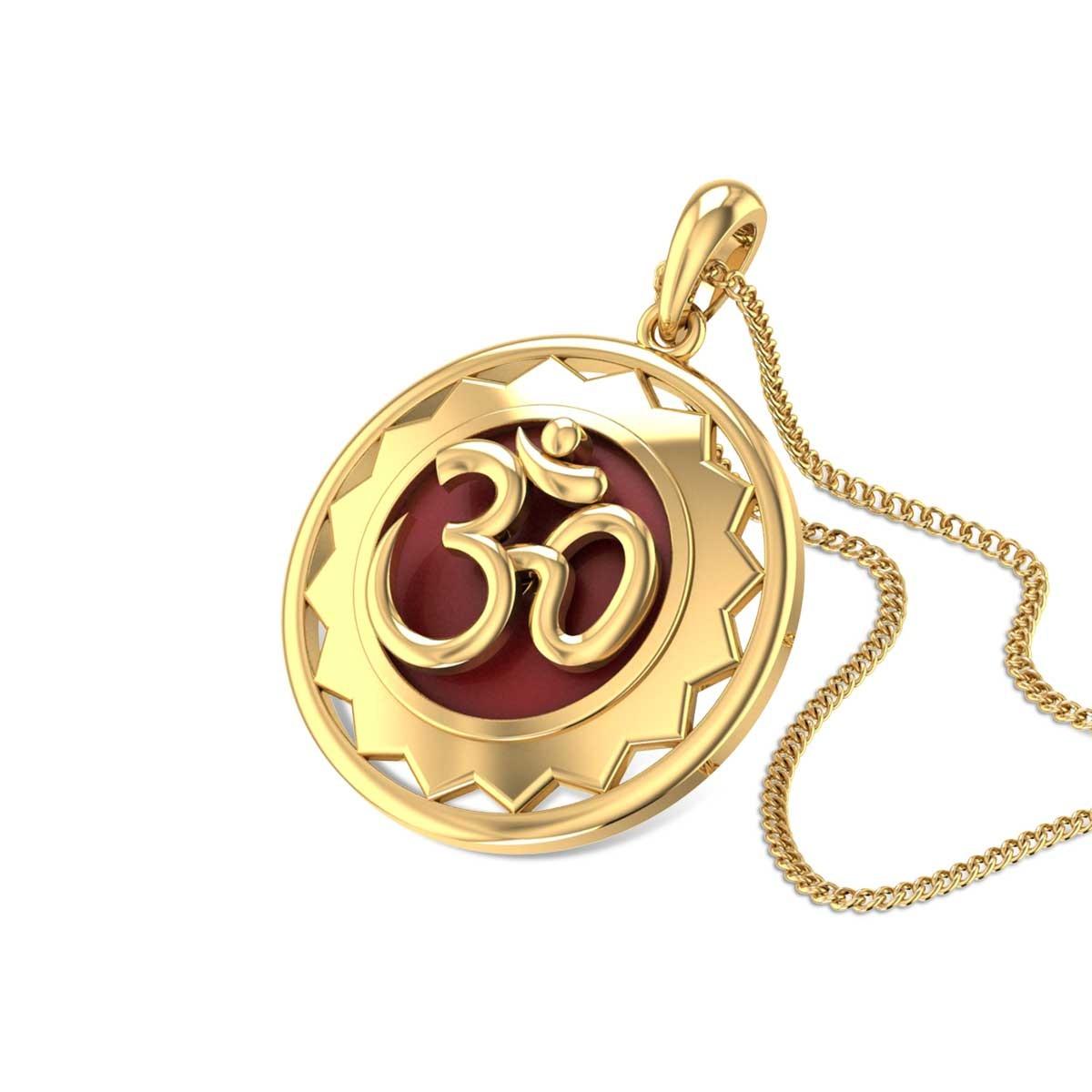 Sacred Aum Gold Pendant