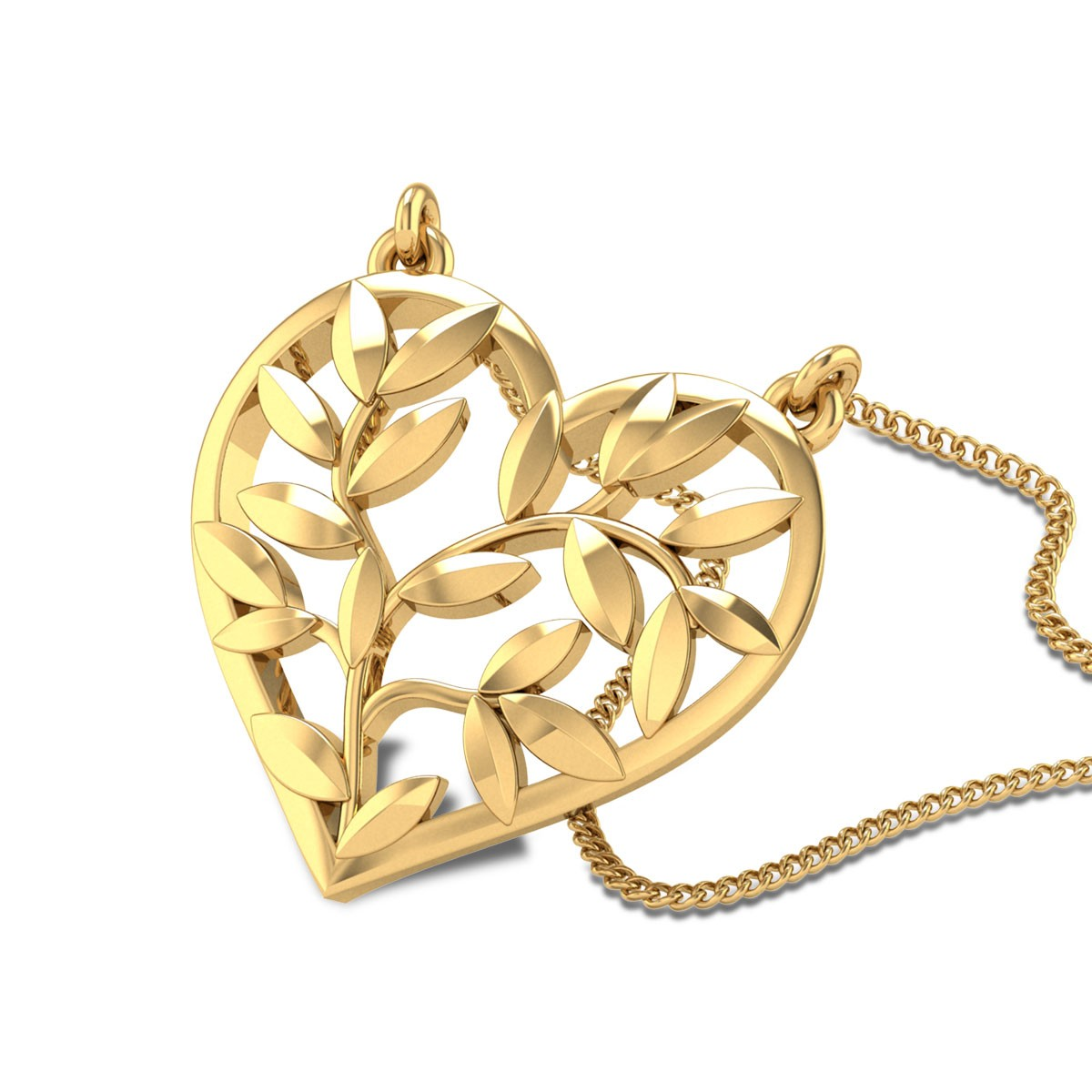 Heriberto Heart Gold Pendant