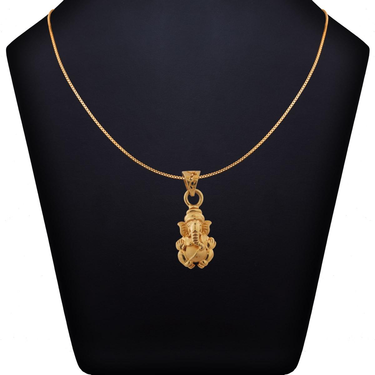 Raja Ganapathy Gold Pendant