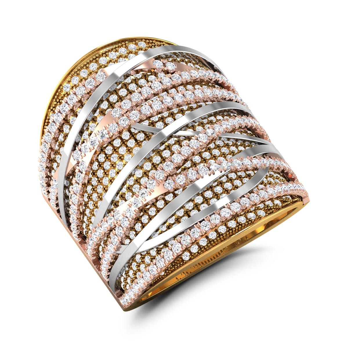 Branca Gold & CZ Ring