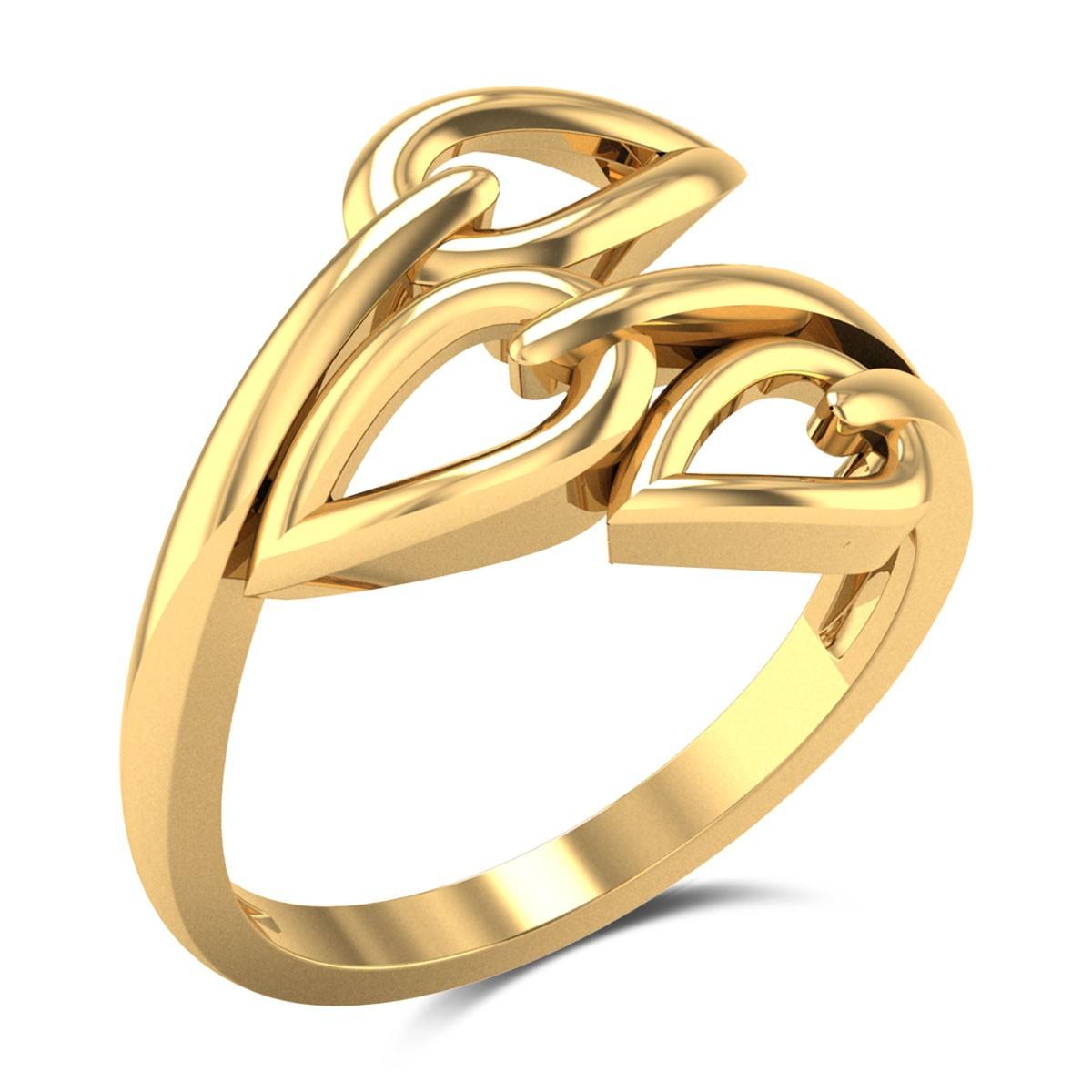 Anais Trio Leaf Gold Ring