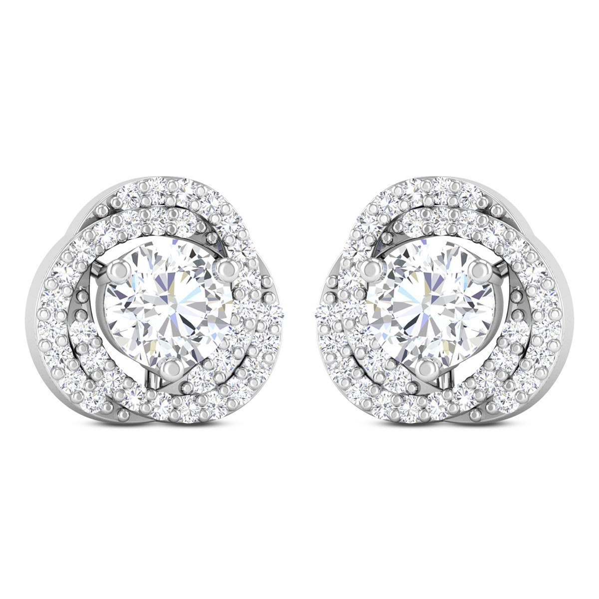 Faustine Floral Solitaire Earring