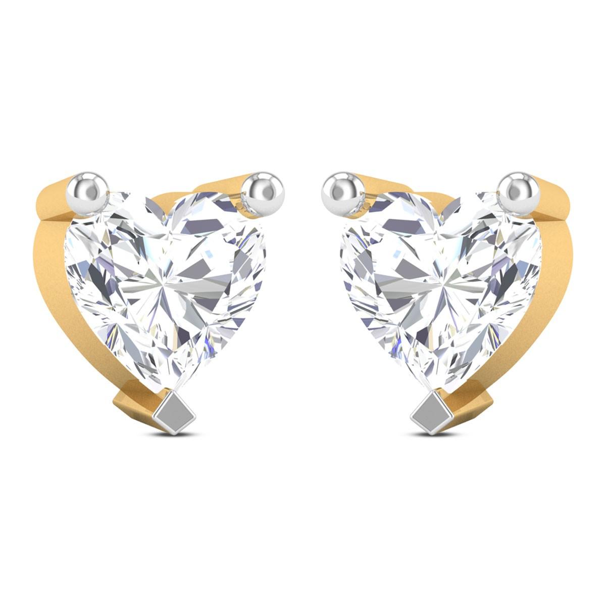 Ciara Heart Cut Solitaire Earring