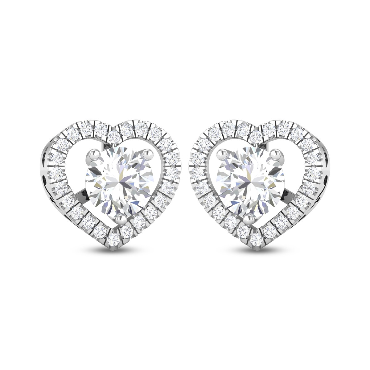 Jarvis Heart Shaped Solitaire Earring