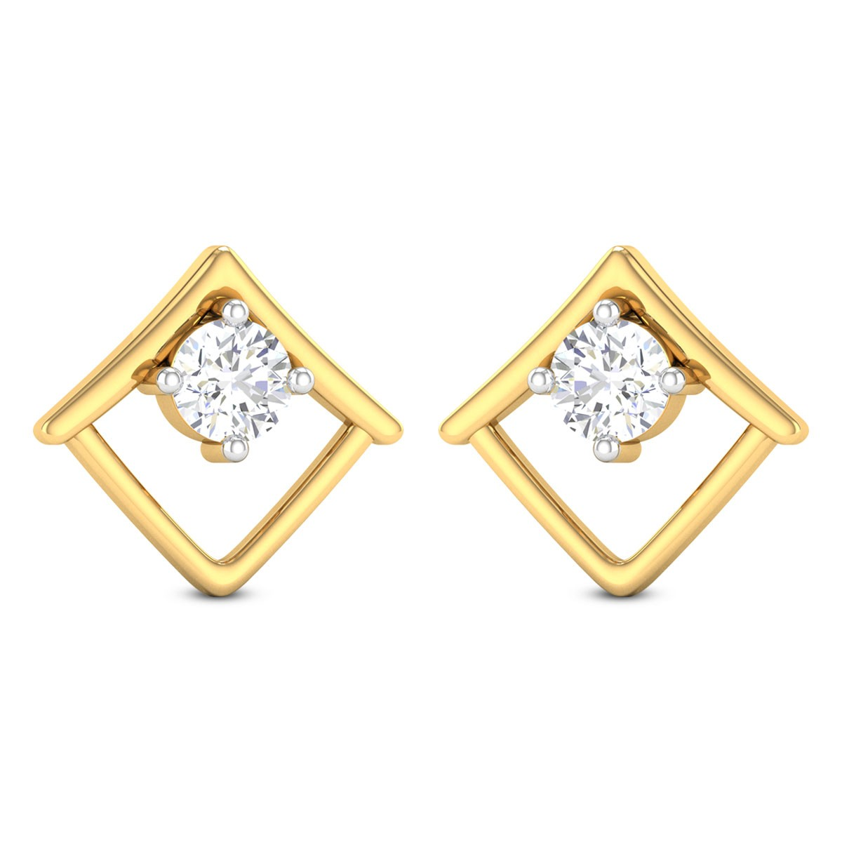Yulia Solitaire Stud Earrings