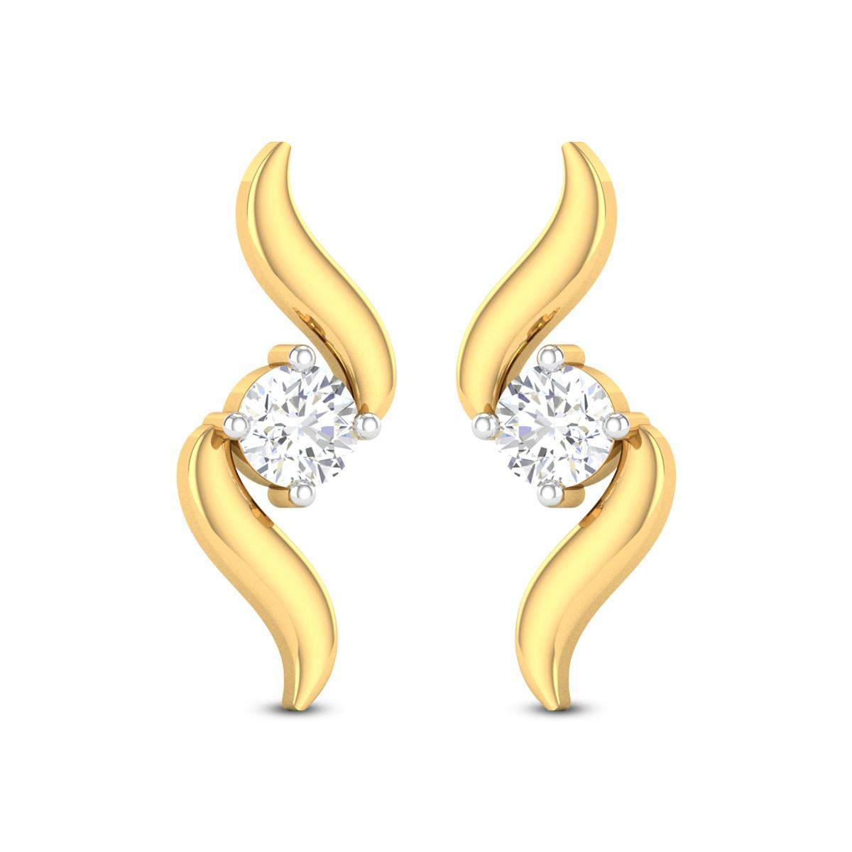 Wafa Solitaire Stud Earrings