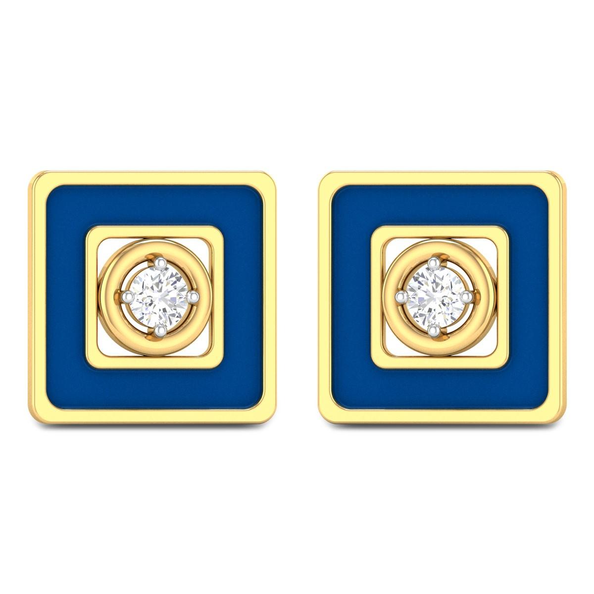 Waheeda Geon Solitaire Stud Earrings