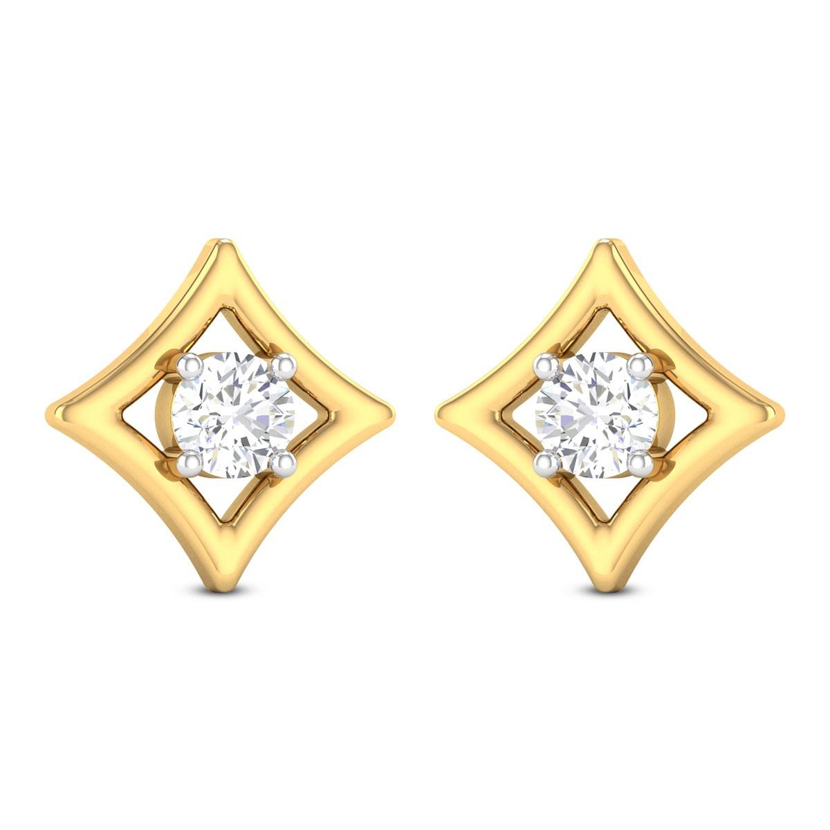 Wahenoor Solitaire Stud Earrings