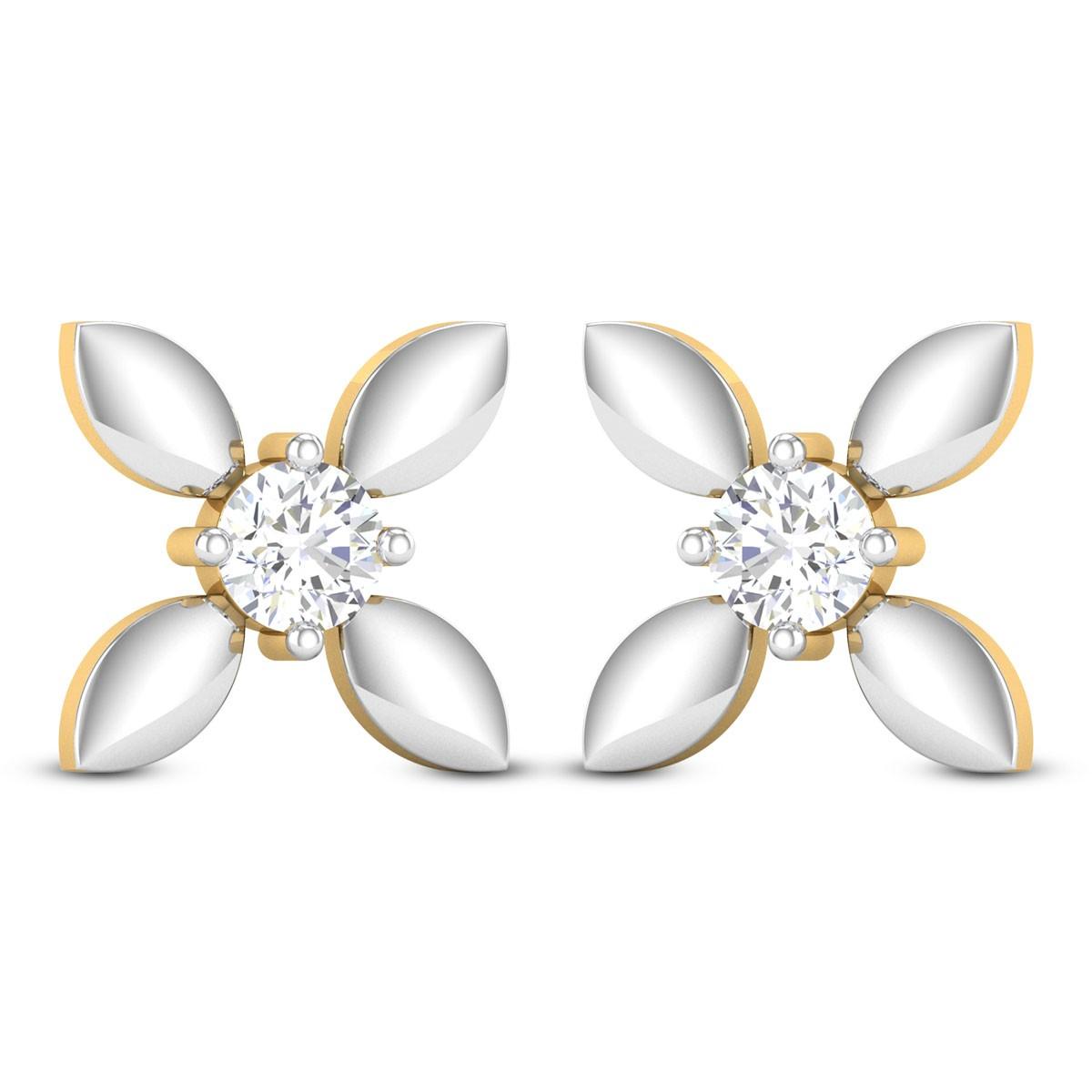 Udantika Solitaire Stud Earrings
