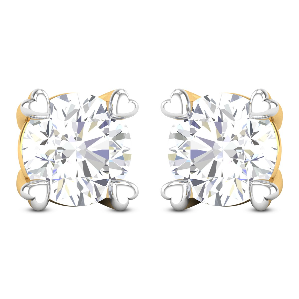 Unmada Solitaire Stud Earrings