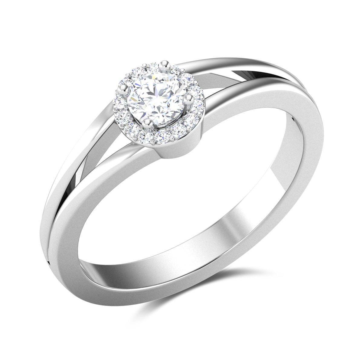 Marcelo Diamond 4 Prong Solitaire Ring